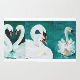 Swan mother Rug