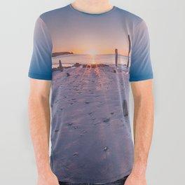 Port Willunga Sunset All Over Graphic Tee
