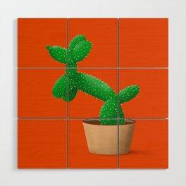 Cactus dog Wood Wall Art