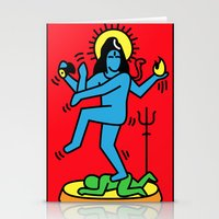 keith haring Stationery Cards featuring Shiva Keith Haring Tribute by Tshirtbaba