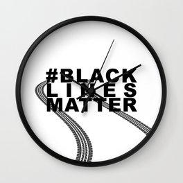 #BLACKLINESMATTER Wall Clock