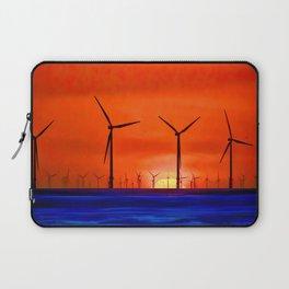 Windmills in the Sea Laptop Sleeve