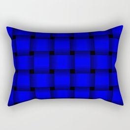 Large Blue Weave Rectangular Pillow