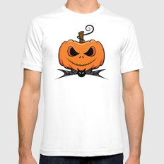 Pumpkin King White SMALL Mens Fitted Tee