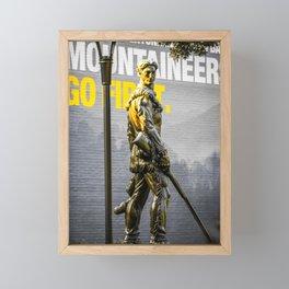 West Virginia Mountaineers Go First Framed Mini Art Print