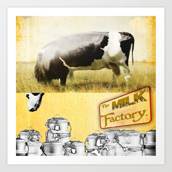 The Milk Factory  Art Print