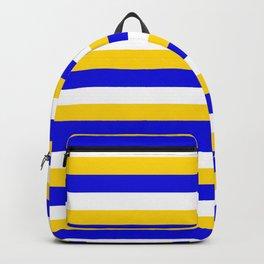 Bosnia Herzegovina Uruguay flag stripes Backpack