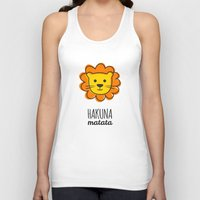 the lion king Tank Tops featuring Lion & King by Jane Mathieu