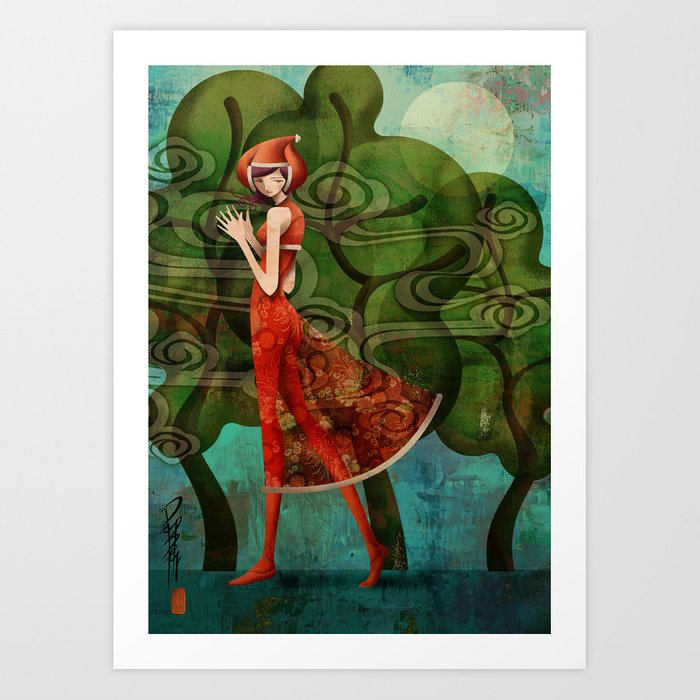 Pepper Moonlight Art Print