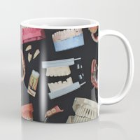 tooth Mugs featuring Tooth Collage by thedaintysquid