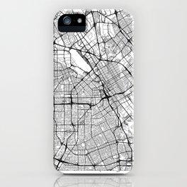 San Jose Map White iPhone Case