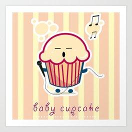 Baby Cupcake - Music Art Print