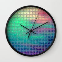 pixel art Wall Clocks featuring piXel by 2sweet4words Designs