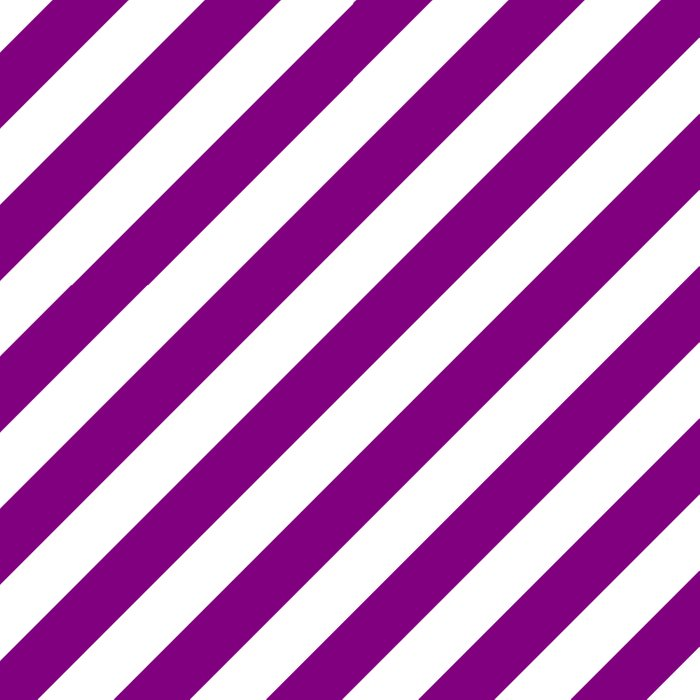 Diagonal Stripes (Purple/White) Duvet Cover