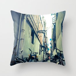 The Old Streets of China Throw Pillow