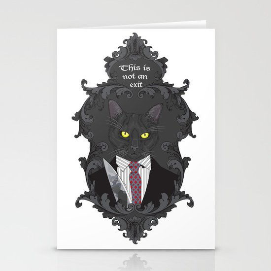 American Psycho Kitty Stationery Cards