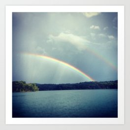 Rainbow Showers Art Print