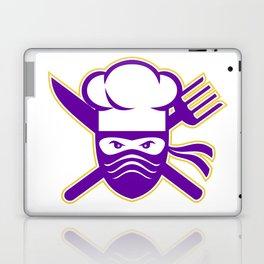 Ninja Chef Crossed Knife Fork Icon Laptop & iPad Skin