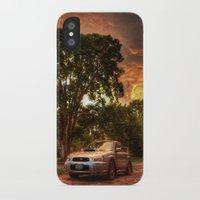 subaru iPhone & iPod Cases featuring Subaru Impreza WRX STi Sunset by Kozicki Photography