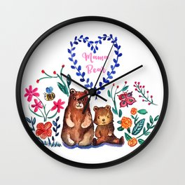 Mother's Day Mama Beare Wall Clock
