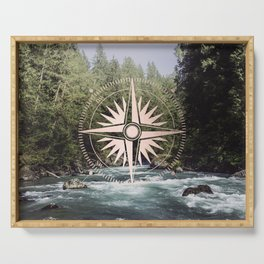 Rose Gold River Adventure Serving Tray