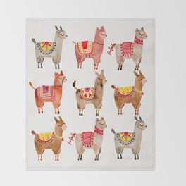 Alpacas Throw Blanket