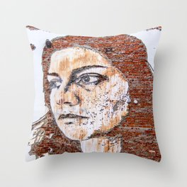 Painted women's face  Throw Pillow