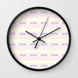 amen 4 Wall Clock