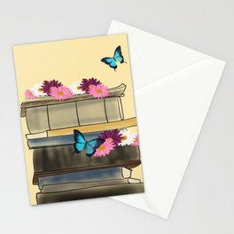 Books and Butterflies - An Introverts Dream Stationery Cards
