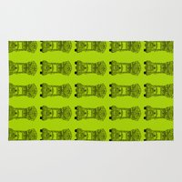 lime green Area & Throw Rugs featuring Pakistani Truck. (Lime Green) by ApaAli.