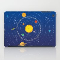 solar system iPad Cases featuring Solar System by Lalu - Laura Vargas