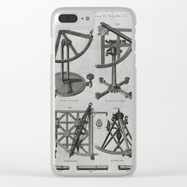 Illustrations of Hadley's Sextant and Quadrants (1790) Clear iPhone Case
