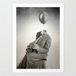 Head in the clouds IIII Art Print