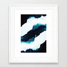 Teal Isolation Framed Art Print