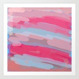 Thru the Desert Abstract Painting Art Print
