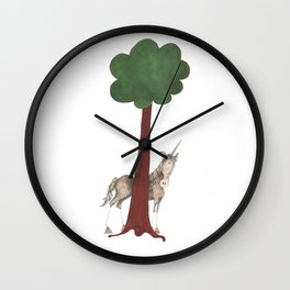 Shy Unicorn Wall Clock
