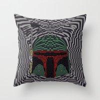 boba Throw Pillows featuring Boba Effect by Fabian Gonzalez