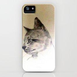 Pet Cat In Pencil iPhone Case