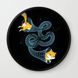Wormhole Cat Wall Clock