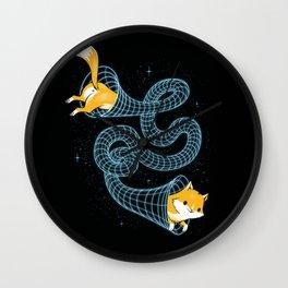 Wormhole Cat Wall Clock