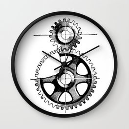 Gears. Wall Clock