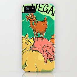Goat SCREAM iPhone Case