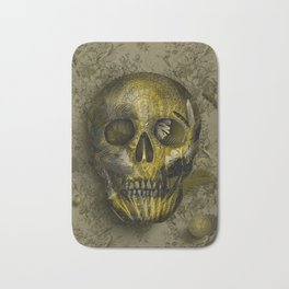 skull gold art decor Bath Mat