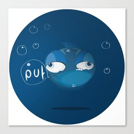 Character collection saltwater fish puff Canvas Print
