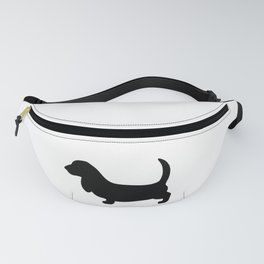 Basset Hound Silhouette Fanny Pack