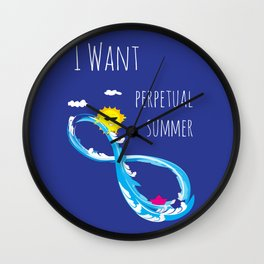 Perpetual summer Wall Clock