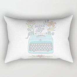 Seize The Day Typewriter Pastels Rectangular Pillow