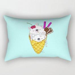 Polar Bear Ice Cream – Shh, they're sleeping Rectangular Pillow