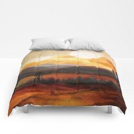 Desert in the Golden Sun Glow Comforters