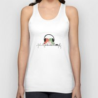 radio Tank Tops featuring Radio Birds by Eric-Bird